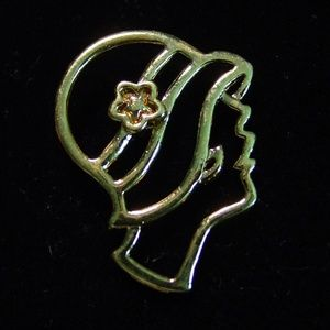'Woman in 1920's Hat' Tack Pin